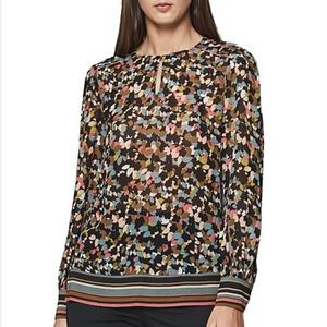 REISS Ally Ditzy Floral Print Blouse